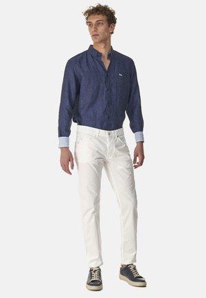 PANTALONE IN COTONE TINTA UNITA - Spodnie materiałowe - avorio