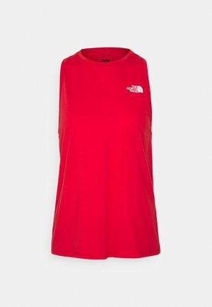 LEFT CHEST LOGO TANK - Toppe - horizon red