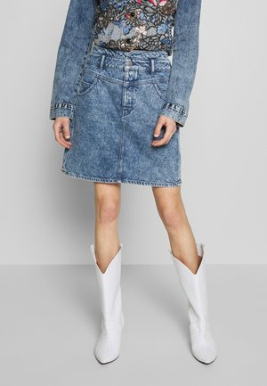 A-line skirt - blue bleached
