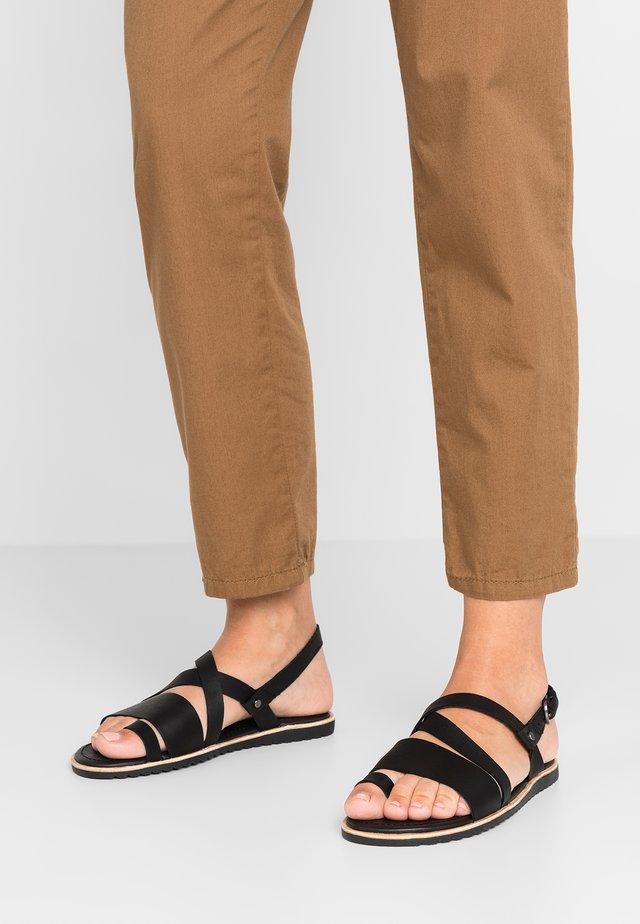 ELLA CRISS CROSS - T-bar sandals - black