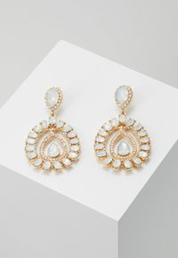 ONLY - ONLWONDERDROP EARRINGS - Orecchini - gold-coloured/milky - 0