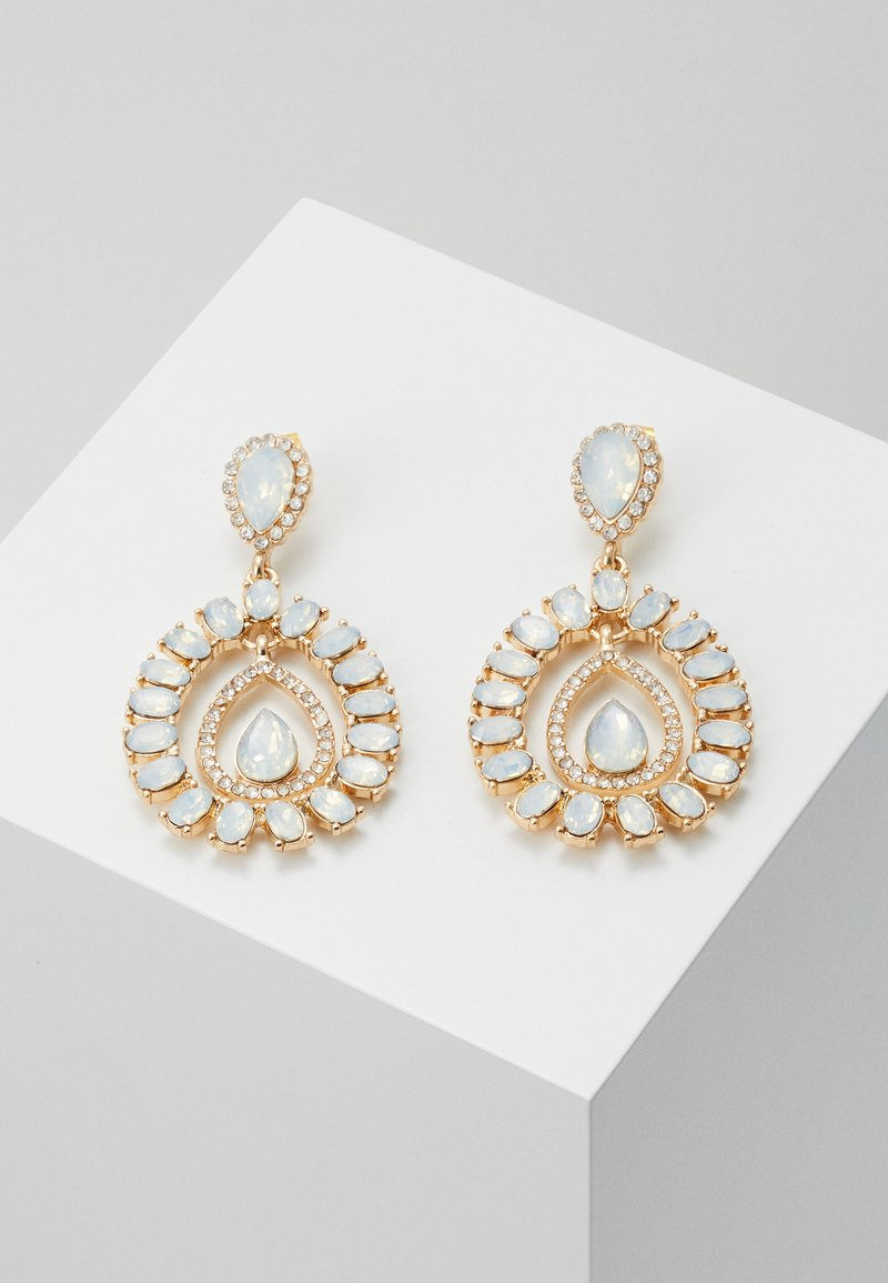 ONLY - ONLWONDERDROP EARRINGS - Orecchini - gold-coloured/milky