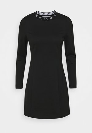 LOGO TRIM MILANO DRESS - Jerseykjole - black