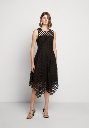 LATTICE EMBROIDERY ANNEMARIE DRESS - Cocktail dress / Party dress - black
