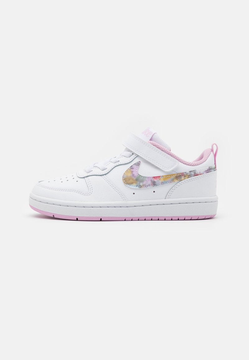 Nike Sportswear - COURT BOROUGH LOW 2 - Sneakers laag - white/multicolor/light arctic pink