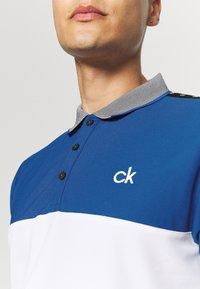 Calvin Klein Golf - TREVINO  - Polo shirt - white/nautical blue - 3