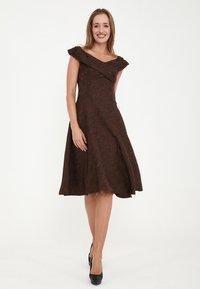 Madam-T - Cocktail dress / Party dress - braun - 3