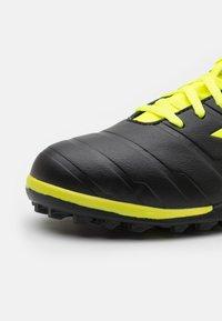Diadora - PICHICHI 3 TF - Astro turf trainers - black/fluo yellow - 5