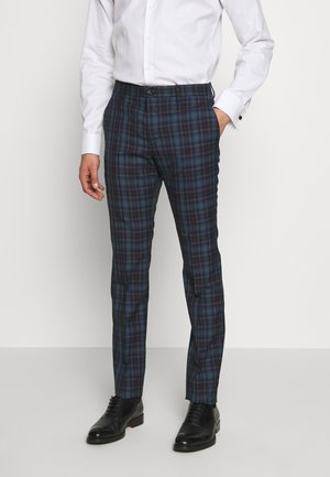 MENS TROUSER CHECKED - Anzughose - navy