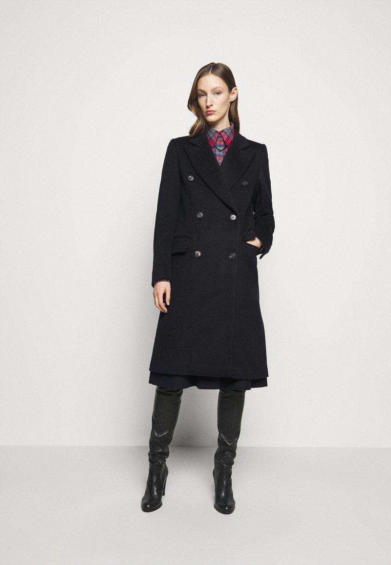 Victoria Beckham - DOUBLE BREASTED TAILORED COAT - Klasický kabát - navy