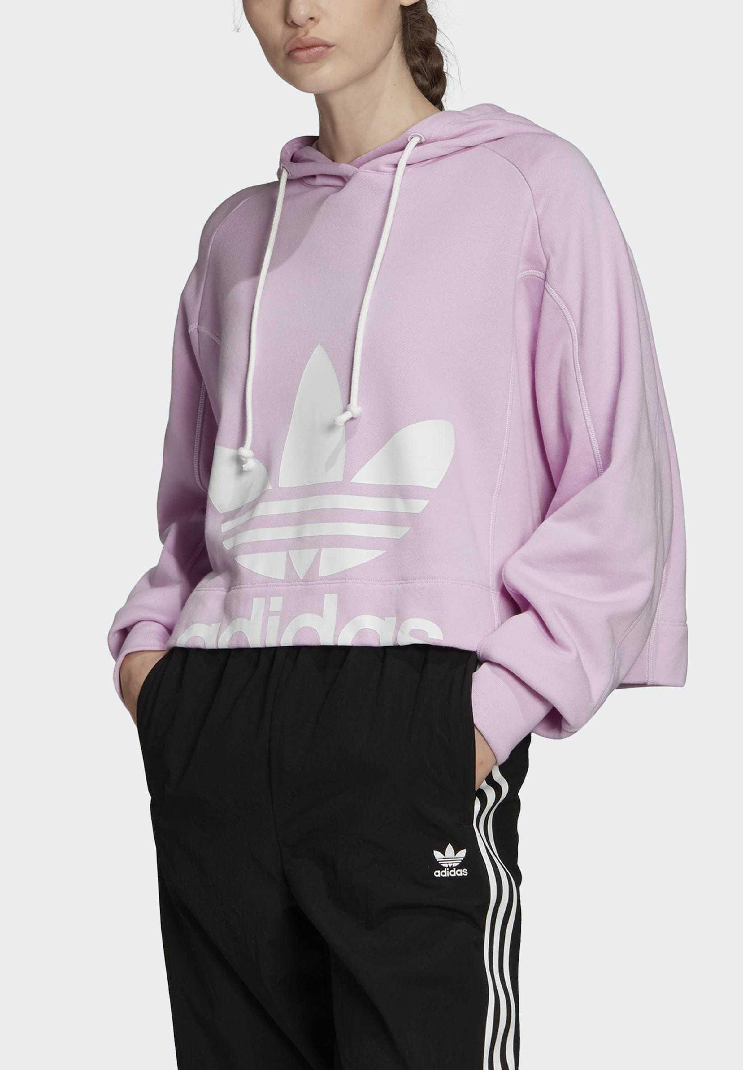 adidas Originals CROPPED HOODIE - Sweat à capuche - purple - Pulls & Gilets Femme O7SDn