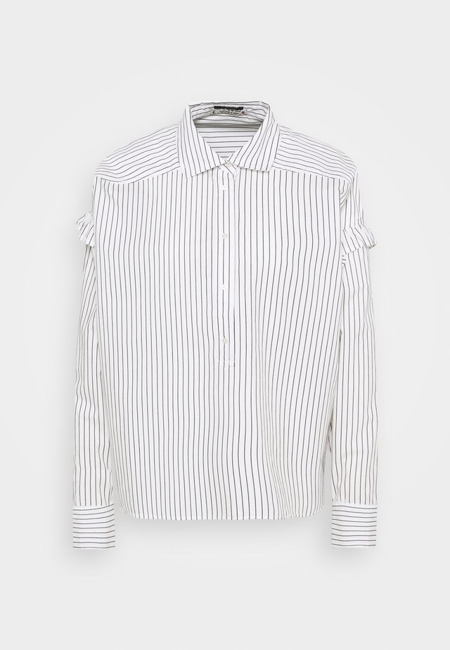 CLEAN STRIPE POPOVER - Button-down blouse - white