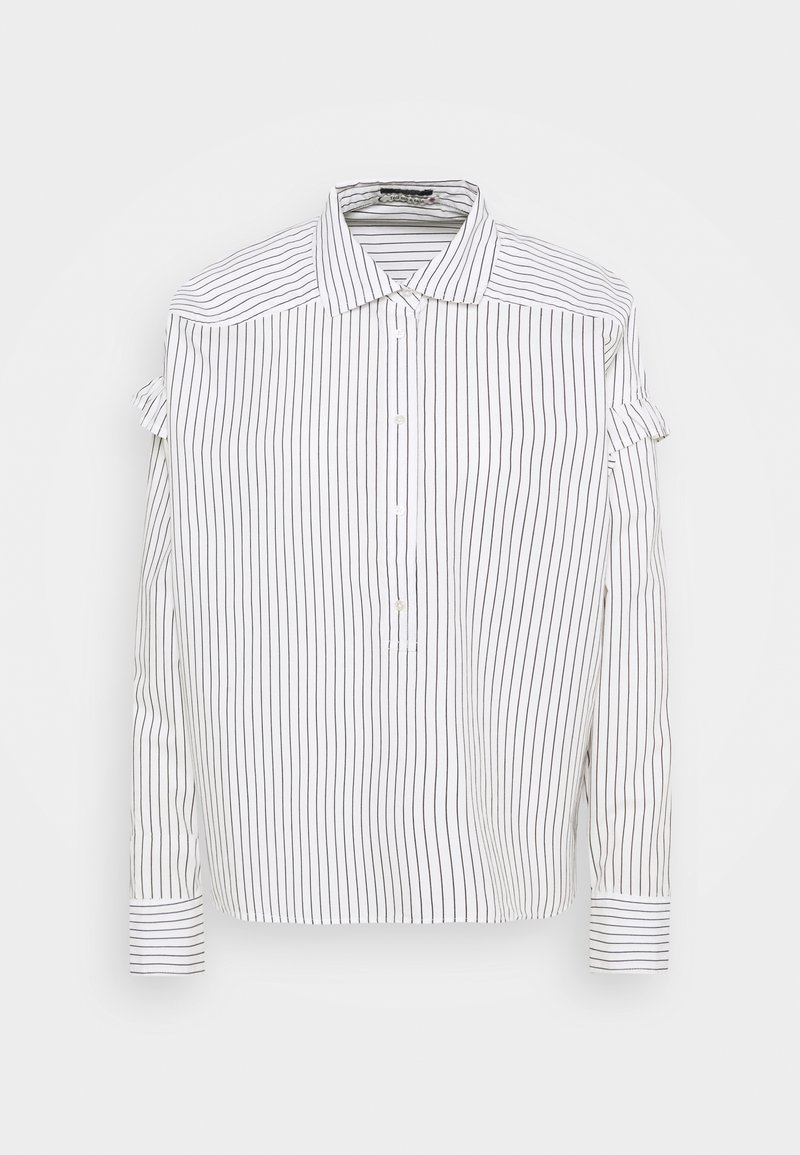 Scotch & Soda - CLEAN STRIPE POPOVER - Button-down blouse - white