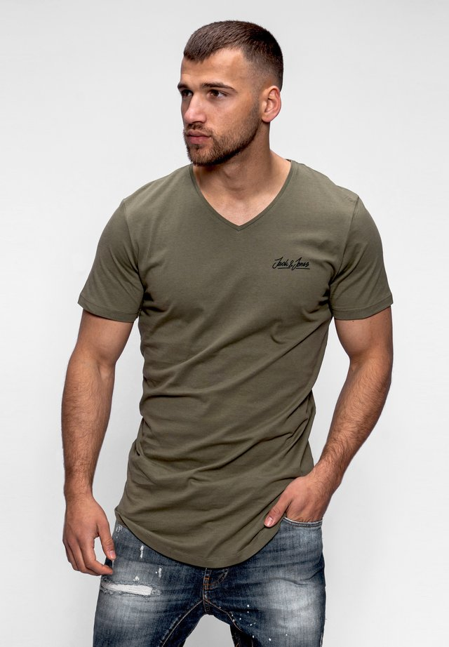 NEWRAR  - Basic T-shirt - dusty olive