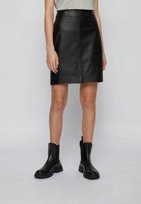 BOSS - Leather skirt - black - 0