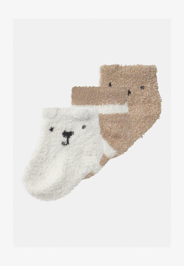 COZY 3 PACK UNISEX - Socks - ivory frost