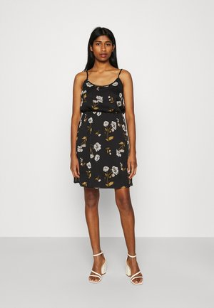 VMMELLIE SINGLET SHORT DRESS - Jersey dress - black/mellie