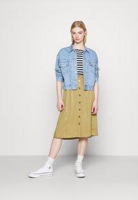 Object - OBJCAT SKIRT - A-line skirt - khaki - 1