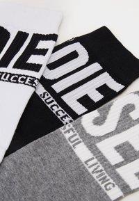 Diesel - SKM-RAY- SOCKS 3 PACK - Calze - black/white/grey - 1