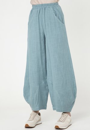 ANNELISA - Pantalon classique - grau-blau