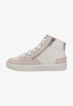 High-top trainers - weiss/silber