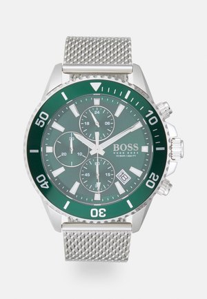 ADMIRAL - Chronograph watch - silver-coloured/green