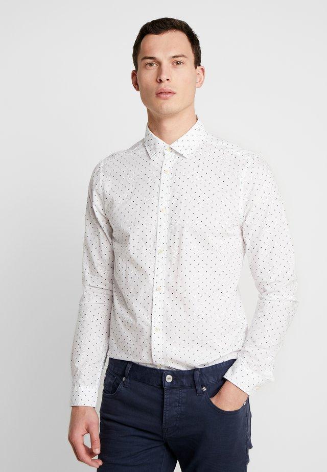 BLAUW LIGHT WEIGHT SHIRT WITH PRINTS - Skjorta - white/dark blue