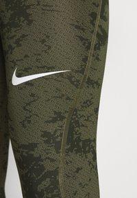 Nike Performance - Leggings - medium olive/white - 8