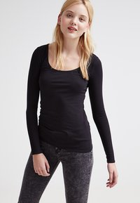 Zalando Essentials - 2 PACK - Long sleeved top - black/black - 2