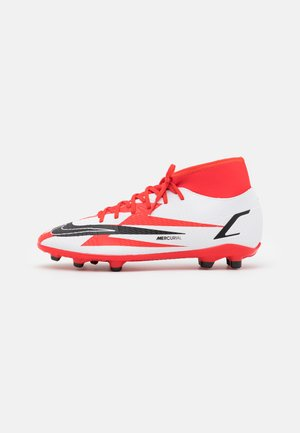 MERCURIAL 8 CLUB CR7 FG/MG - Chaussures de foot à crampons - chile red/black/white/total orange