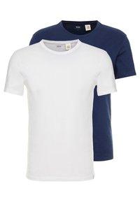 SLIM CREWNECK 2 PACK - Basic T-shirt - blues/white