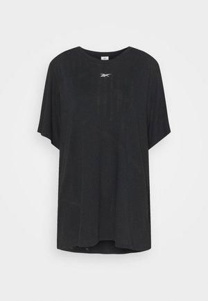BURNOUT TEE - T-shirt con stampa - black