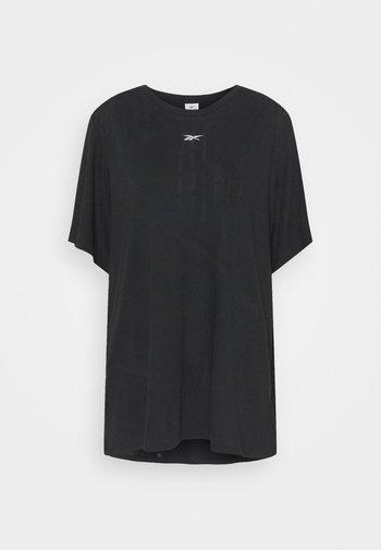 BURNOUT TEE - Print T-shirt - black