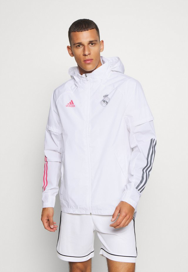REAL MADRID SPORTS FOOTBALL JACKET - Article de supporter - white