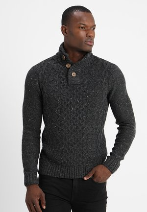 Maglione - mottled dark grey