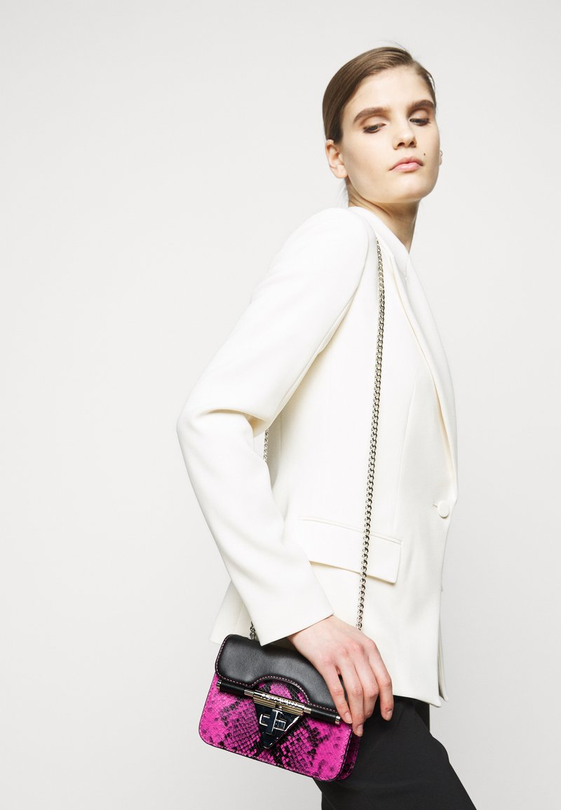 Just Cavalli - Across body bag - beetroot purple/black