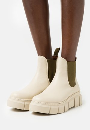 GRAF - Platform ankle boots - ibory/ kaki