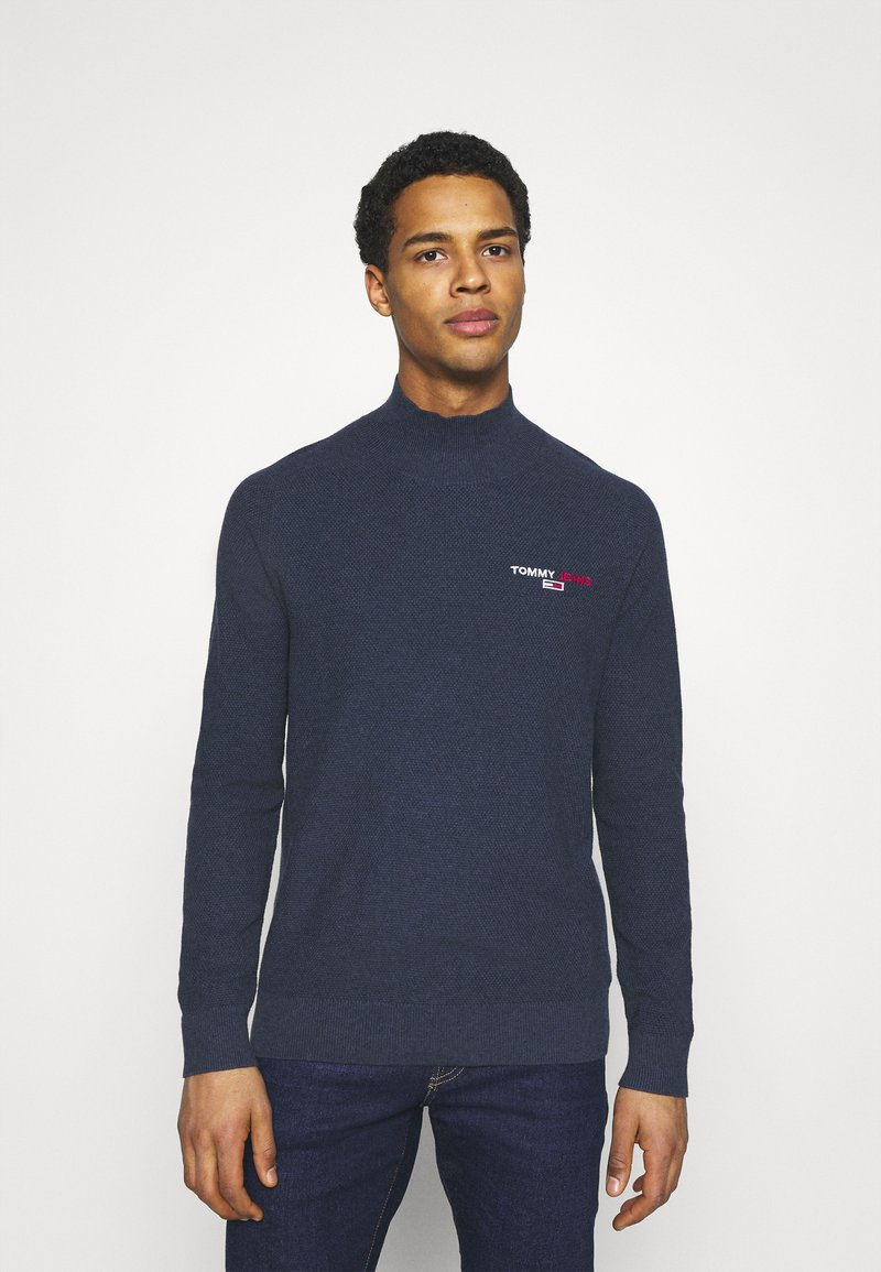 Tommy Jeans - TJM SMALL LOGO SWEATER - Maglione - twilight navy heather