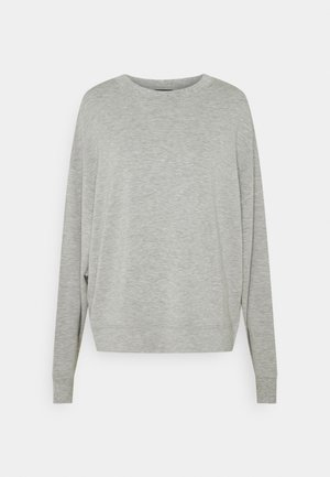 CREW NECK V-SHAPE - Sweatshirt - stony grey melange