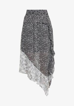 ALICIA - Jupe longue - black print