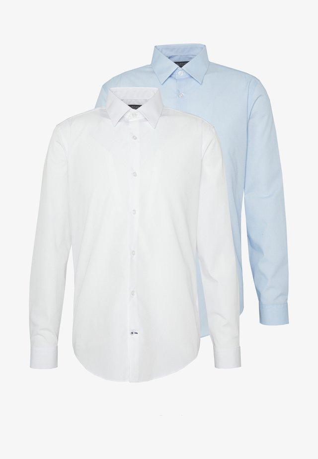 2 PACK FORMAL SHIRT - Camisa - blue/white