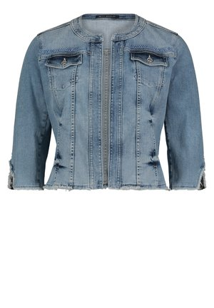 BETTY BARCLAY MIT RUNDHALSAUSSCHNITT - Denim jacket - blue bleached denim