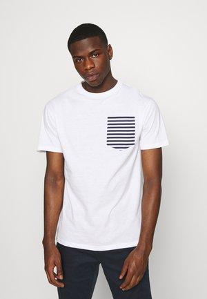 ROPE TEE - T-shirts print - white/navy