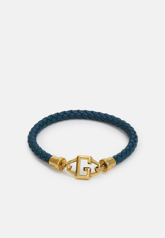 BRACKETS UNISEX - Bracelet - blue/antique gold-coloured shiny