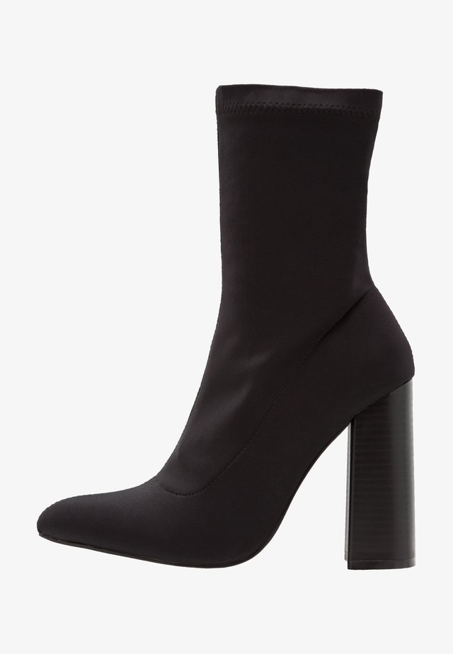 LIBBY - High heeled ankle boots - black