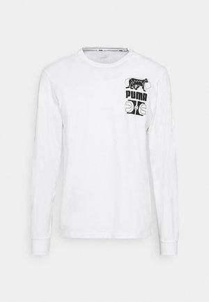 PARQUET GRAPHIC TEE - Pitkähihainen paita - white