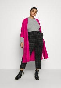 Simply Be - LONGLINE COATIGAN - Cardigan - bright pink - 1