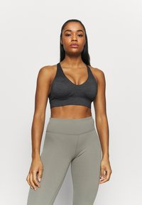 Cotton On Body - WORKOUT TRAINING CROP - Medium support sports bra - charcoal marle - 0