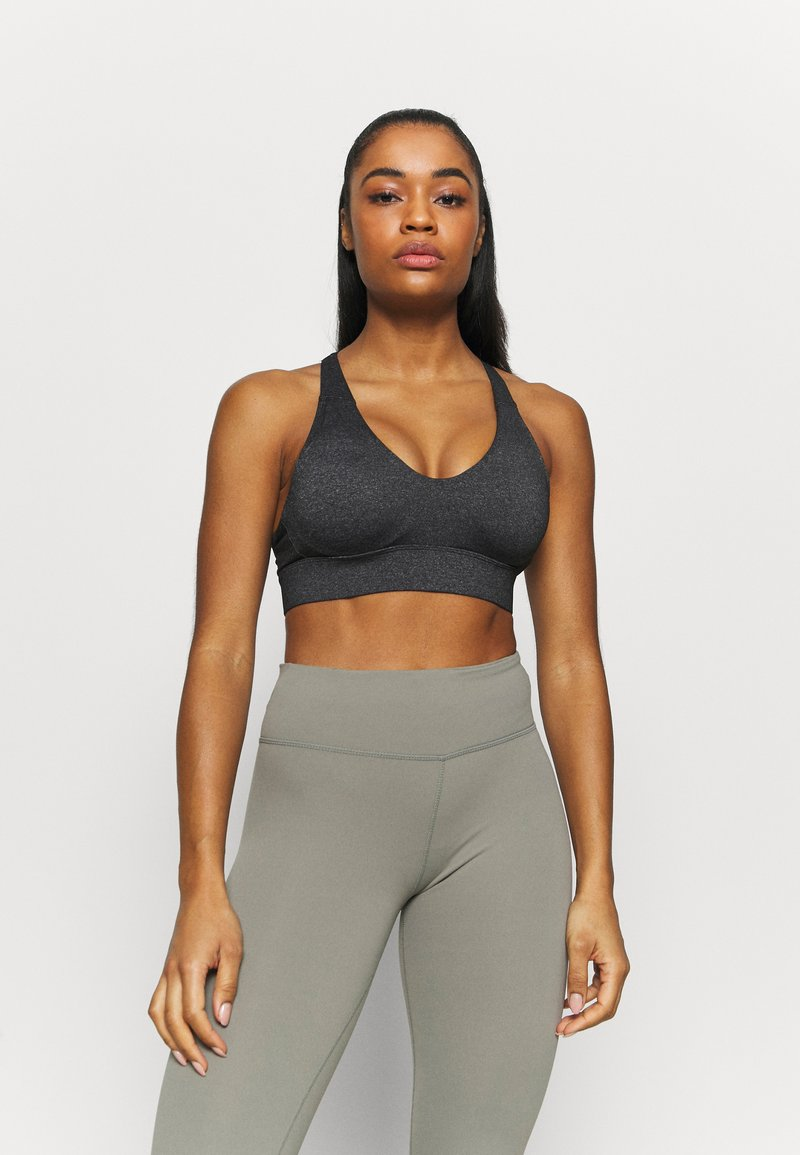 Cotton On Body - WORKOUT TRAINING CROP - Medium support sports bra - charcoal marle