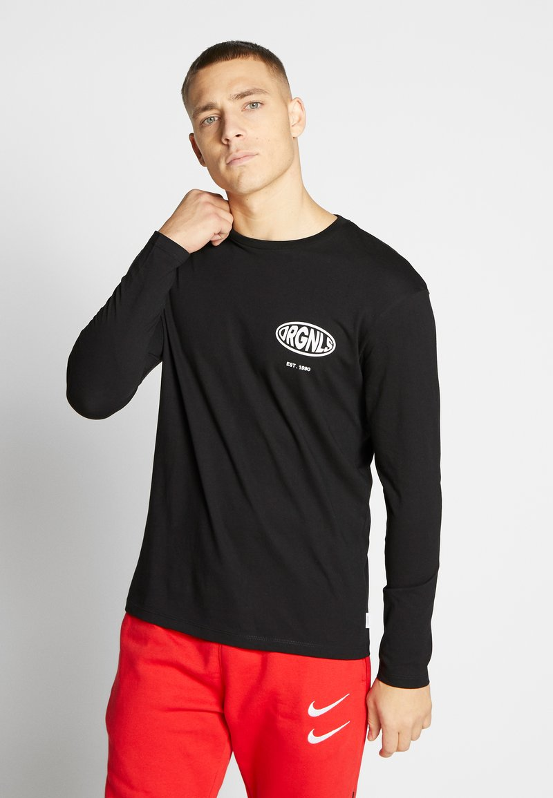 Jack & Jones - JORLOGGS TEE CREW NECK - Långärmad tröja - black